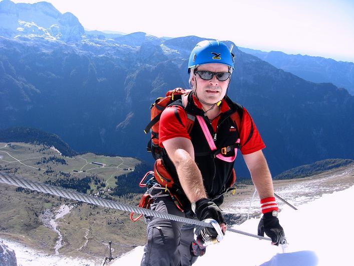 Foto: Andreas Koller / Klettersteig Tour / Leiternweg durch die Südwand auf den Montasch (2753m) / 27.10.2009 22:12:37