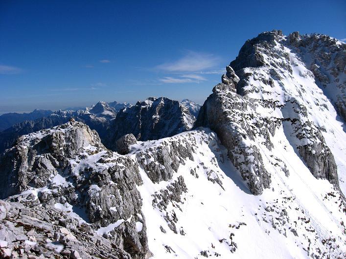 Foto: Andreas Koller / Klettersteig Tour / Leiternweg durch die Südwand auf den Montasch (2753m) / 27.10.2009 22:12:12