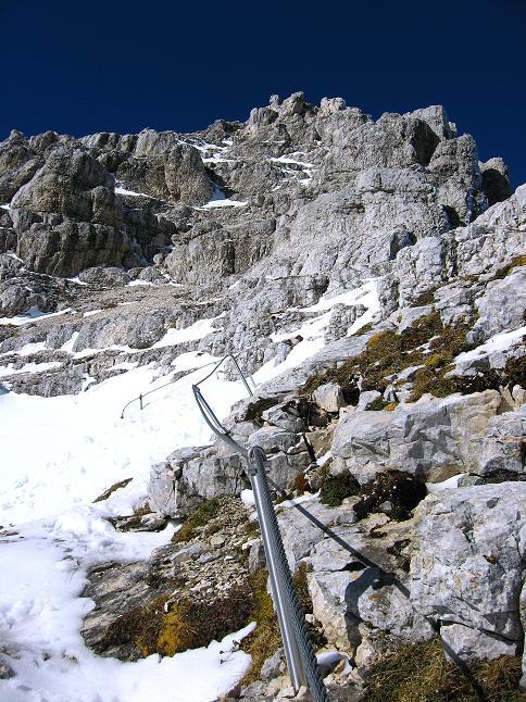 Foto: Andreas Koller / Klettersteig Tour / Leiternweg durch die Südwand auf den Montasch (2753m) / 27.10.2009 22:12:02