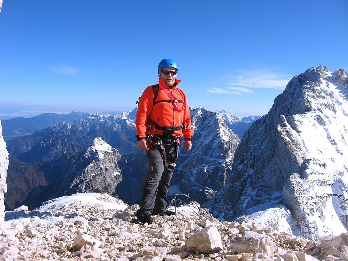 Foto: Andreas Koller / Klettersteig Tour / Leiternweg durch die Südwand auf den Montasch (2753m) / In der Forcla Verde / 27.10.2009 22:11:06