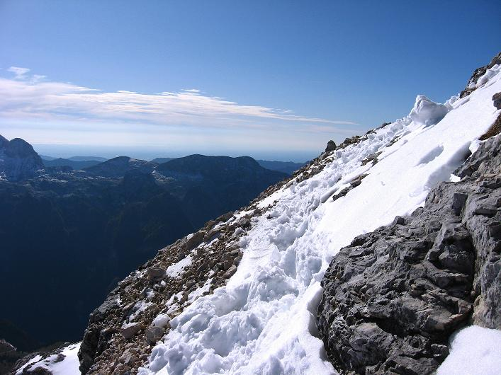 Foto: Andreas Koller / Klettersteig Tour / Leiternweg durch die Südwand auf den Montasch (2753m) / 27.10.2009 22:09:40