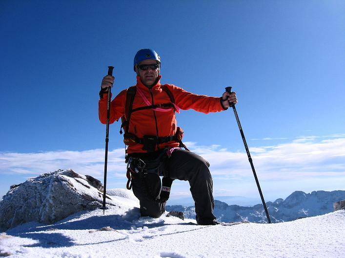 Foto: Andreas Koller / Klettersteig Tour / Leiternweg durch die Südwand auf den Montasch (2753m) / 27.10.2009 22:06:13
