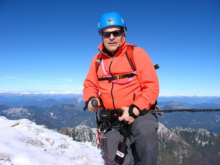 Foto: Andreas Koller / Klettersteig Tour / Leiternweg durch die Südwand auf den Montasch (2753m) / 27.10.2009 22:06:05