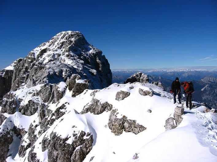 Foto: Andreas Koller / Klettersteig Tour / Leiternweg durch die Südwand auf den Montasch (2753m) / Rückblick auf den Montasch / 27.10.2009 22:05:32