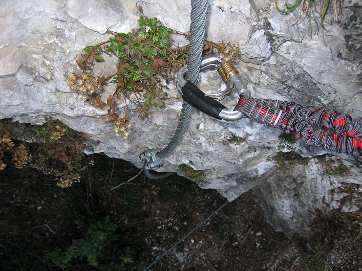 Foto: Andreas Koller / Klettersteig Tour / Koflwand Klettersteig (680 m) / Oberhalb des Überhangs / 26.10.2009 16:12:39