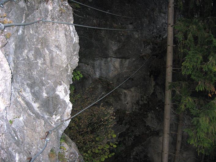 Foto: Andreas Koller / Klettersteig Tour / Koflwand Klettersteig (680 m) / Die Zweiseilbrücke / 26.10.2009 16:11:41