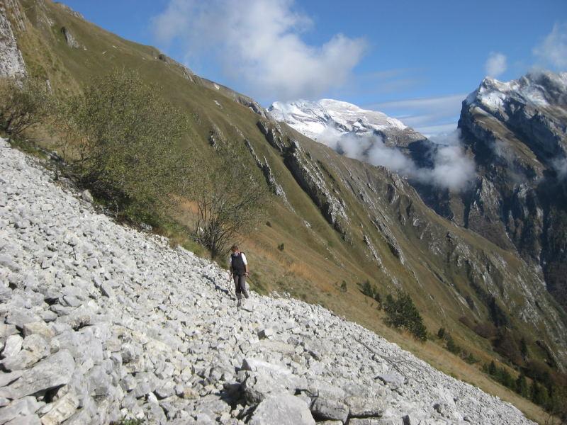 Foto: Wolfgang Lauschensky / Wander Tour / Col Mat 1981m / kurz vor dem Rifugio / 30.10.2009 13:51:23