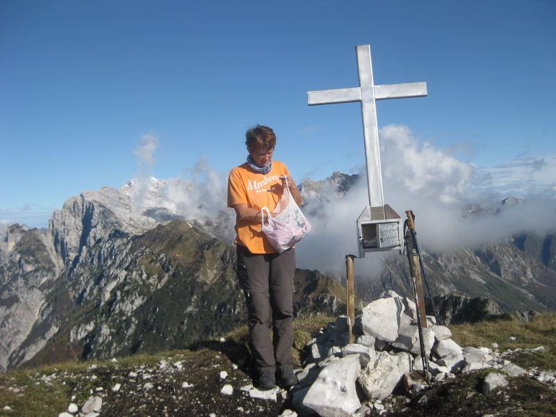 Foto: Wolfgang Lauschensky / Wander Tour / Monte Dolada 1938m / Col Mat vom Gipfel des Monte Dolada / 30.10.2009 15:24:12