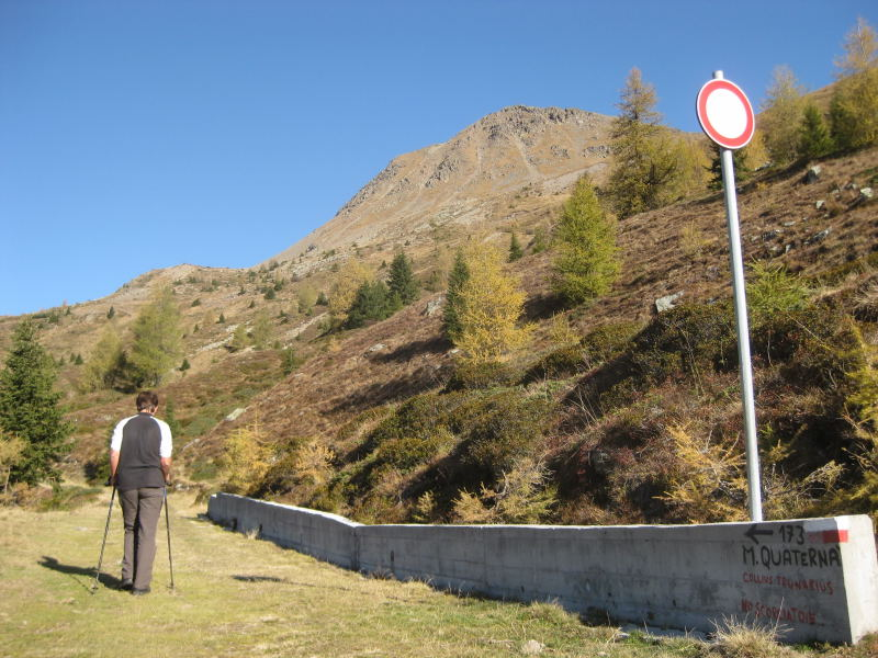 Foto: Wolfgang Lauschensky / Wander Tour / Col Quaterna oder Knieberg 2503m / auf ca 2200m / 30.10.2009 18:57:33