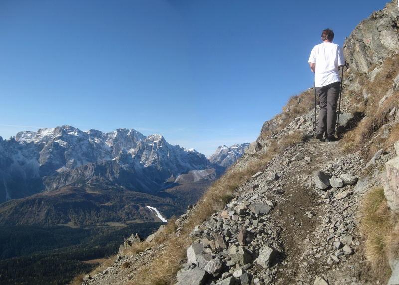 Foto: Wolfgang Lauschensky / Wander Tour / Col Quaterna oder Knieberg 2503m / Gipfelanstieg in der Westflanke / 30.10.2009 18:56:49