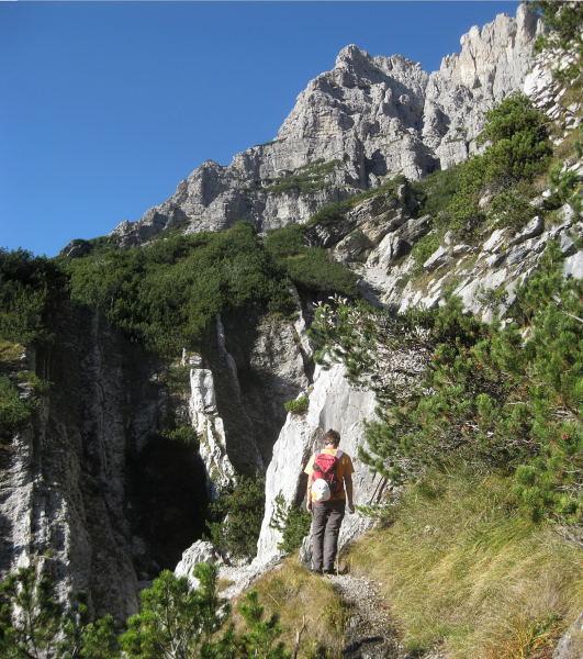 Foto: Wolfgang Lauschensky / Klettersteig Tour / Monte Schiara - Überschreitung Ferr. Sperti - Berti - Marmol / Zustieg zur Ferr. Sperti / 31.10.2009 01:03:23