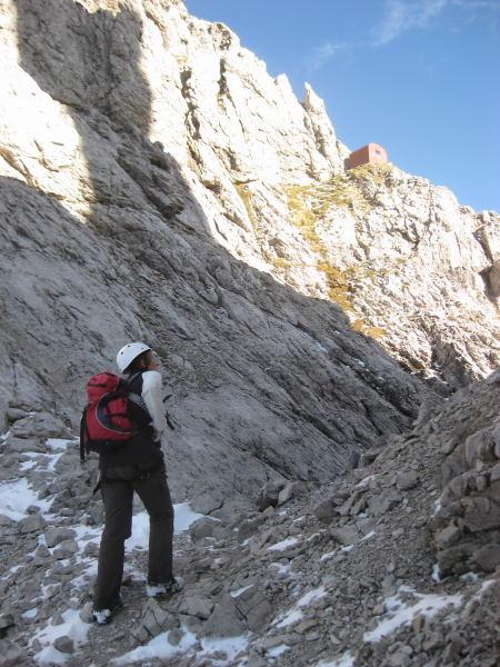 Foto: Wolfgang Lauschensky / Klettersteig Tour / Monte Schiara - Überschreitung Ferr. Sperti - Berti - Marmol / Bivaccio Bernardino / 31.10.2009 00:57:38