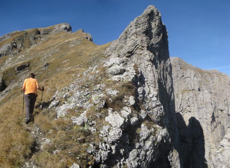 Foto: Wolfgang Lauschensky / Wander Tour / Monte Pelf 2502m / Am Ostgrat des Monte Pelf / 31.10.2009 14:17:13
