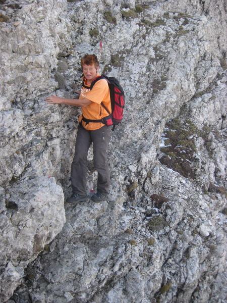 Foto: Wolfgang Lauschensky / Wander Tour / Monte Pelf 2502m / kurz etwas ausgesetzte I° Kletterei / 31.10.2009 14:16:25