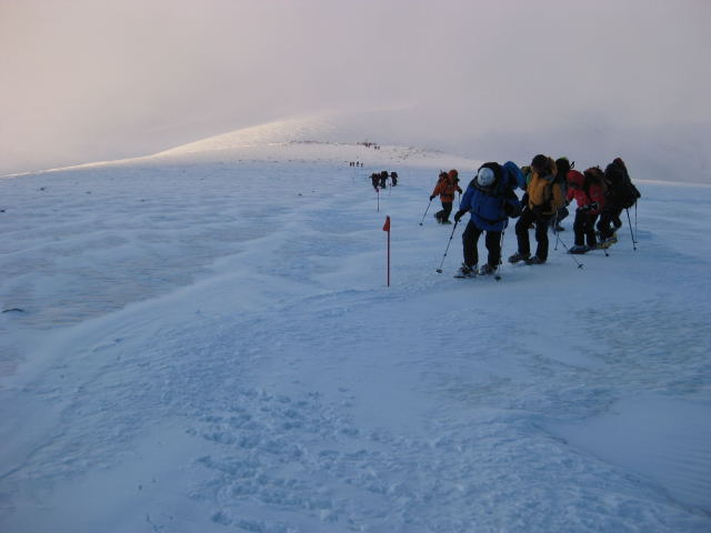 Foto: Wolfgang Lauschensky / Ski Tour / Elbrus 5642m  Winterbesteigung / wohltuender Sonnenaufgang / 01.11.2009 14:34:01