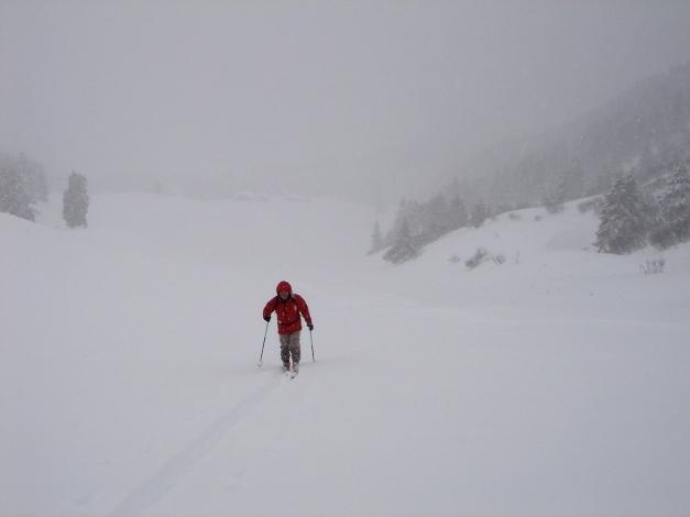 Foto: Manfred Karl / Ski Tour / Von Zauchensee auf den Roßkopf / Unterhalb vom Sattel zwischen Roßkopf und Hirschköpfl / 03.11.2009 20:04:30