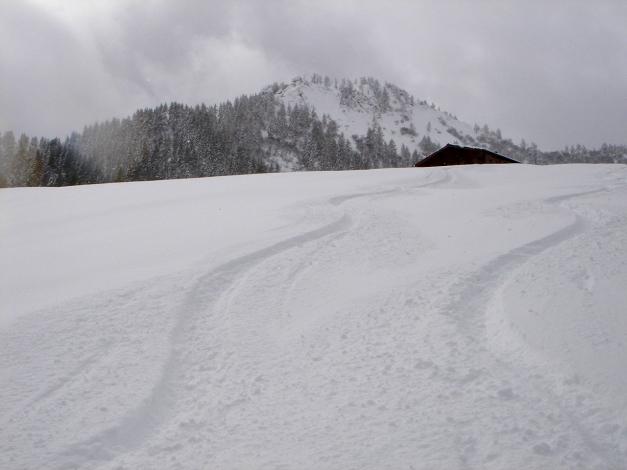 Foto: Manfred Karl / Ski Tour / Von Zauchensee auf den Roßkopf / Bei der Höchalm / 03.11.2009 20:01:27
