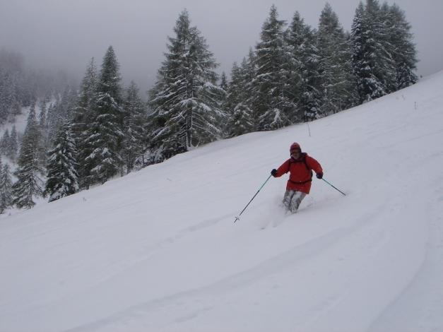 Foto: Manfred Karl / Ski Tour / Von Zauchensee auf den Roßkopf / Unterer Teil der Abfahrt / 03.11.2009 20:00:50