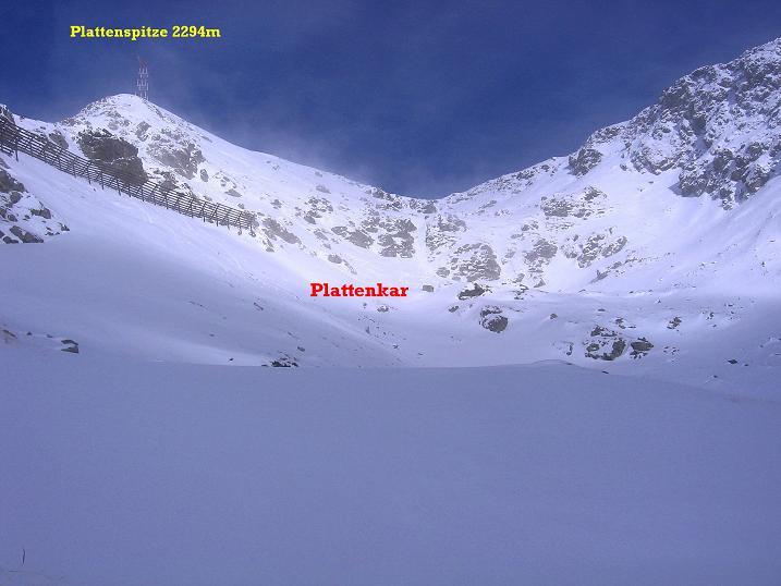Foto: Andreas Koller / Ski Tour / Durchs Plattenkar auf die Plattenspitze (2294 m) / 08.11.2009 20:10:41