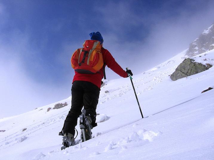 Foto: Andreas Koller / Ski Tour / Durchs Plattenkar auf die Plattenspitze (2294 m) / Aufstieg im Kar / 08.11.2009 20:09:53