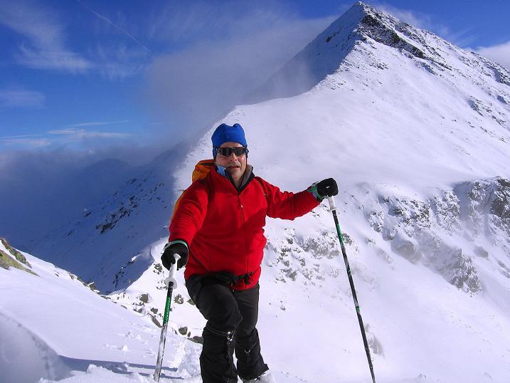 Foto: Andreas Koller / Ski Tour / Durchs Plattenkar auf die Plattenspitze (2294 m) / Aufstieg am Grat / 08.11.2009 20:05:32