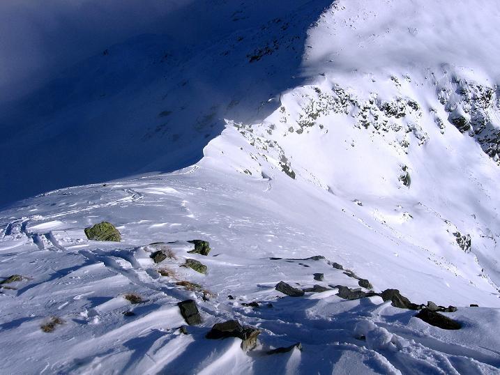 Foto: Andreas Koller / Ski Tour / Durchs Plattenkar auf die Plattenspitze (2294 m) / SO-Grat zur Plattenspitze / 08.11.2009 20:03:01