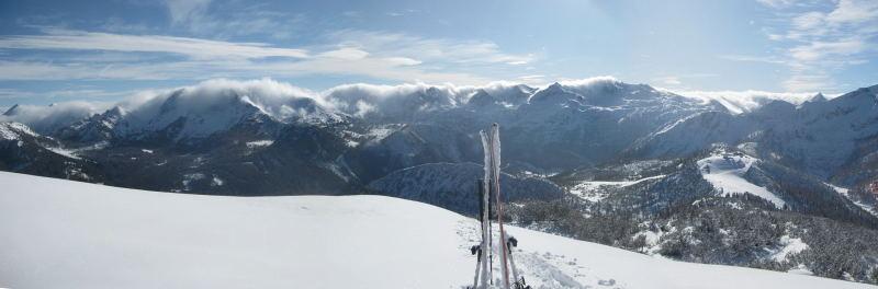 Foto: Wolfgang Lauschensky / Ski Tour / Hakopf über Schlaningsattel / Schlaningsattel vor Alpenhauptkamm / 08.11.2009 20:51:35