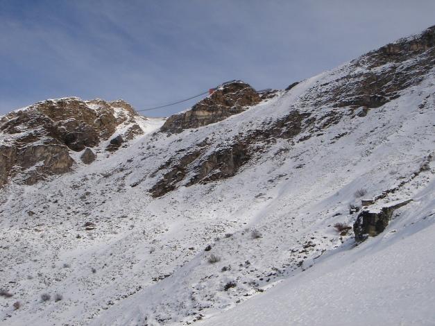 Foto: Manfred Karl / Ski Tour / Stubnerkogel / Was ist denn das da oben? - Das wird doch nicht eine Hängebrücke sein? / 09.11.2009 20:41:03