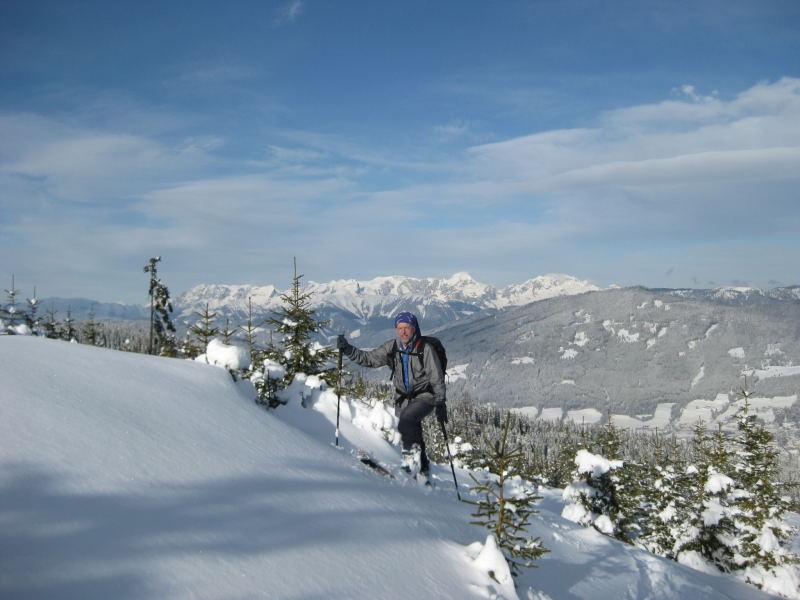 Foto: Wolfgang Lauschensky / Ski Tour / Vorderes Labeneck  / am Nordrücken mit Tennengebirgsblick / 10.11.2009 01:38:31
