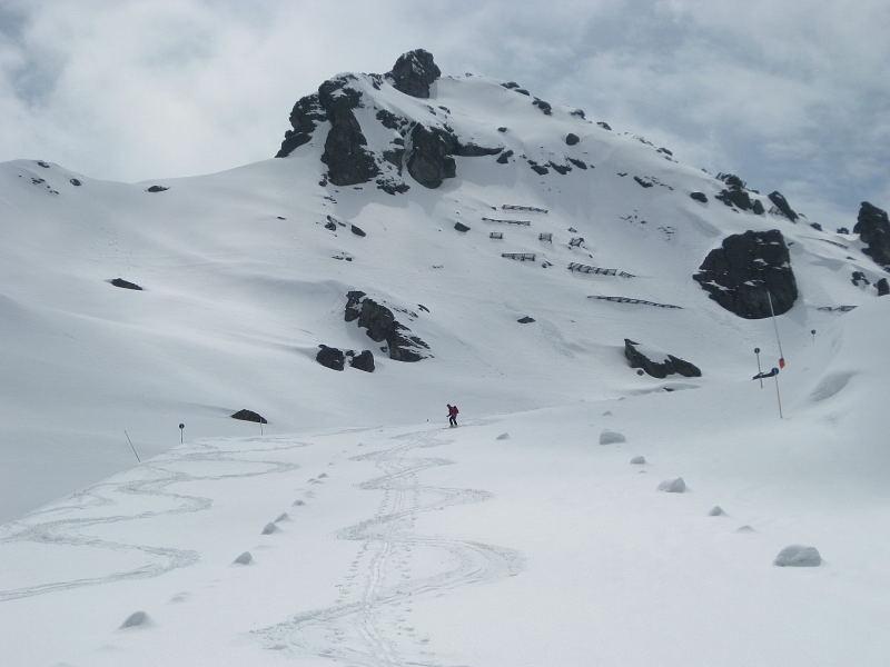 Foto: Wolfgang Lauschensky / Skitour / Kleiner Gilfert von Hochfügen / verlassenes Hochfügener Pistengebiet vor Pfaffenbichl / 10.11.2009 15:19:23