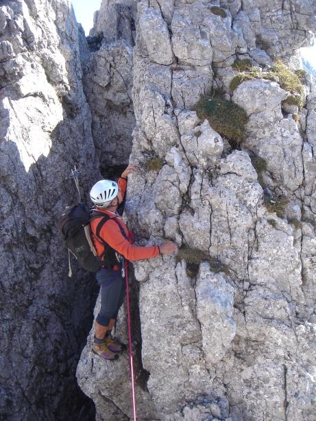 Foto: Manfred Karl / Kletter Tour / Kraxngrat / Kurzer Abstieg, 13. SL / 17.11.2009 20:05:14