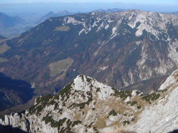 Foto: Manfred Karl / Kletter Tour / Kraxngrat / Blick übers Gamskarköpfl zum Zahmen Kaiser / 17.11.2009 20:01:37