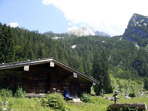 Foto: Datzi / Wander Tour / Bergtour auf die Hocheisspitze (Biwak) / Mittereisalm ( Vor dieser Hütte steht gleich neben der Straße der Wegzeiger) / 21.11.2009 18:34:11
