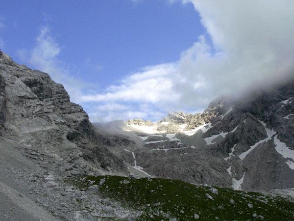 Foto: Datzi / Wander Tour / Bergtour auf die Hocheisspitze (Biwak) / Kurz vor dem Geröllfeld / 21.11.2009 18:39:22