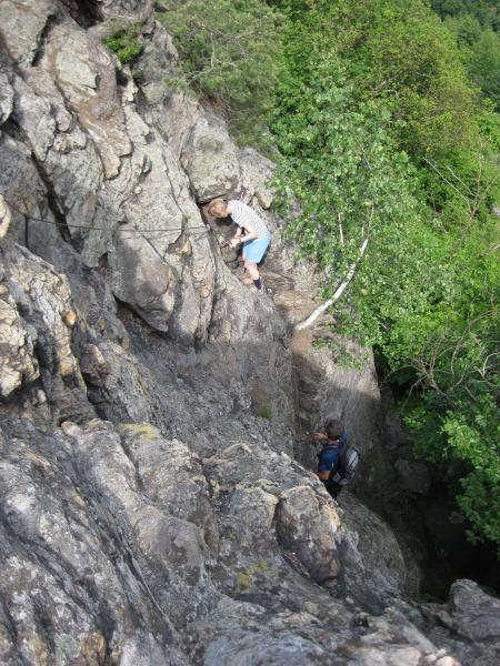 Foto: Wolfgang Lauschensky / Wander Tour / Hirschwand (635m) / Gipfelblick zum Einstieg in die Südostrinne (B) / 21.11.2009 18:51:45
