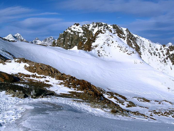 Foto: Andreas Koller / Ski Tour / Trainingstour auf den Hinteren Brunnenkogel (3440 m) / Blick zum Vorderen Brunnenkogel (3393 m) / 24.11.2009 20:57:46