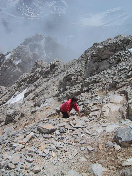 Foto: Wolfgang Lauschensky / Wander Tour / Mytikas 2917m, Olymp / steiler Gipfelanstieg / 24.11.2009 18:22:27