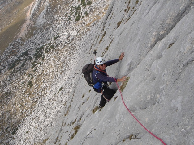 Foto: Manfred Karl / Kletter Tour / Seekofel Südwand, Via Classica / Oberhalb vom Plattenspitz / 26.11.2009 20:37:43