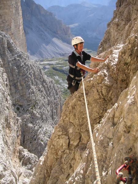 Foto: Wolfgang Lauschensky / Kletter Tour / Große Zinne Südwand - Normalweg / die Vorbauwand kurz vor der 1.Scharte / 30.11.2009 14:29:26