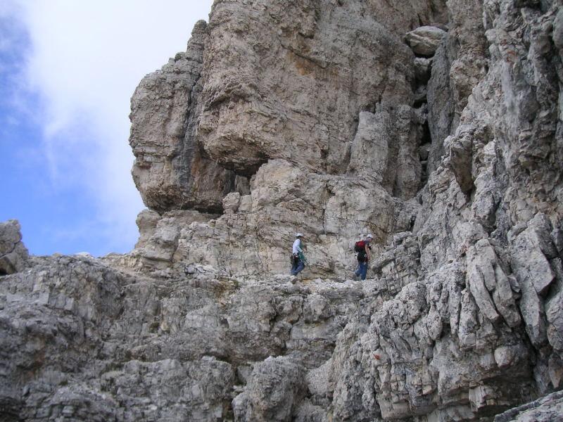 Foto: Wolfgang Lauschensky / Kletter Tour / Große Zinne Südwand - Normalweg / kurze Bänderquerung / 30.11.2009 14:27:55