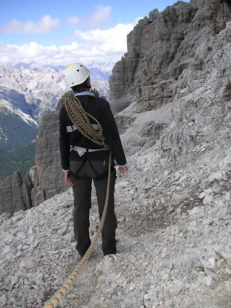 Foto: Wolfgang Lauschensky / Kletter Tour / Große Zinne Südwand - Normalweg / Terrassenband / 30.11.2009 14:26:53