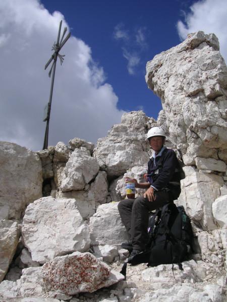 Foto: Wolfgang Lauschensky / Kletter Tour / Große Zinne Südwand - Normalweg / Sammlung und Kräftigung vor dem Abstieg / 30.11.2009 14:25:39