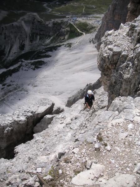Foto: Wolfgang Lauschensky / Kletter Tour / Große Zinne Südwand - Normalweg / Auronzohütte an den Südabstürzen der Westlichen Zinne / 30.11.2009 14:25:25