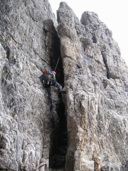 Foto: Wolfgang Lauschensky / Kletter Tour / Große Zinne Südwand - Normalweg / einfacher Kaminabstieg / 30.11.2009 14:24:53