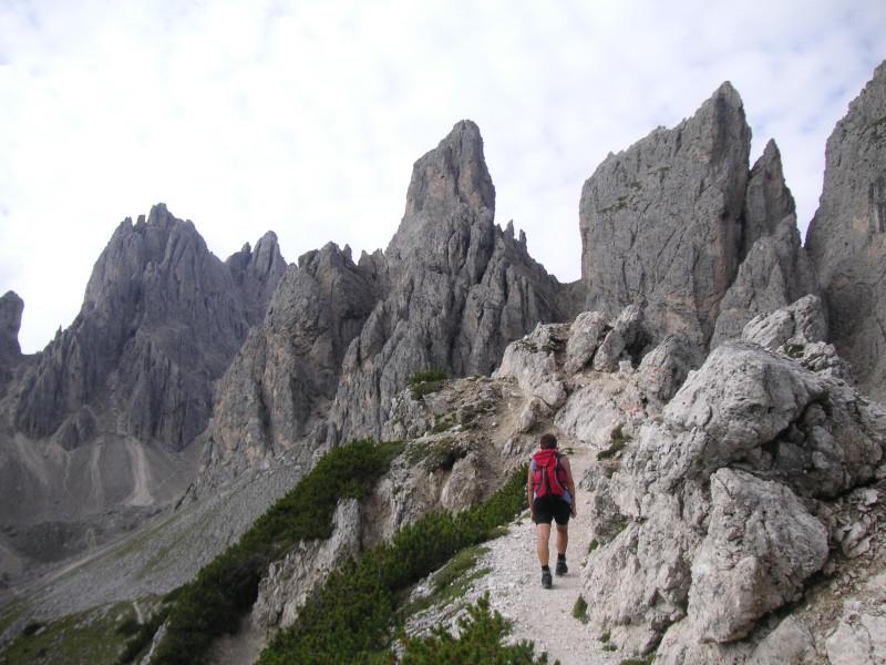 Foto: Wolfgang Lauschensky / Klettersteig Tour / Via ferrata Merlone auf die Cadinspitze NE / leichte Dolomitenkost / 02.12.2009 19:27:35