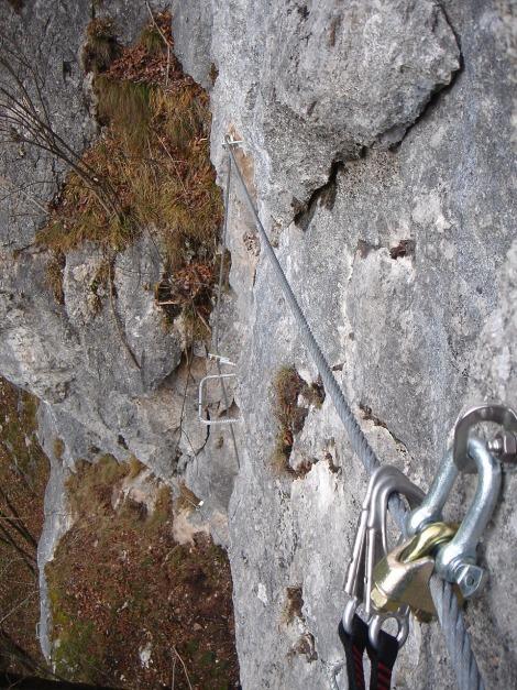 Foto: Manfred Karl / Klettersteig Tour / Klettersteig Weiße Gams / Nach der Schlüsselstelle / 05.12.2009 17:19:40