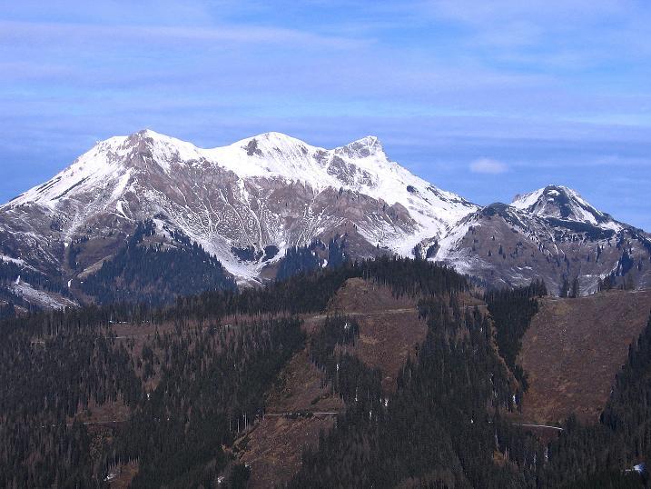 Foto: Andreas Koller / Wander Tour / Aus der Zidritz auf die Kahlwandspitze (2090 m) / Wildfeld (2043 m) und Stadelstein (2078 m) / 06.12.2009 23:03:35