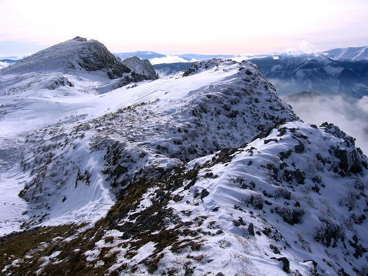 Foto: Andreas Koller / Wander Tour / Aus der Zidritz auf die Kahlwandspitze (2090 m) / Aufstiegsgrat / 06.12.2009 22:56:40