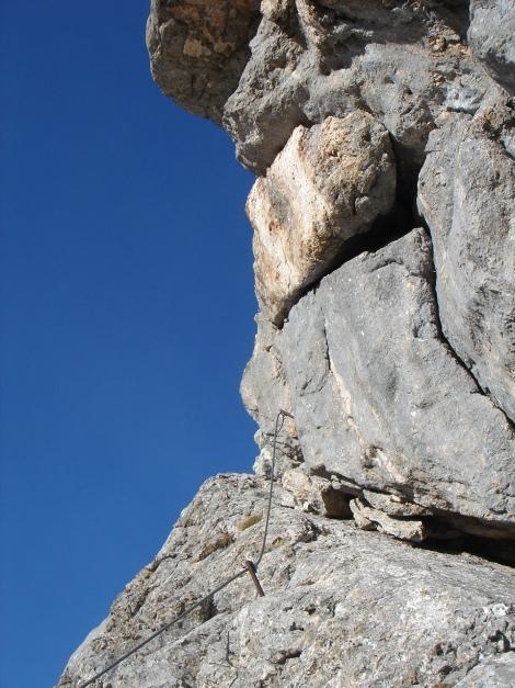Foto: Manfred Karl / Klettersteig Tour / Klettersteig Sinabell / Vor der Engstelle / 08.12.2009 19:15:25