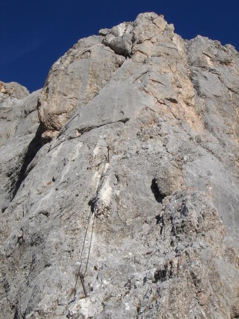 Foto: Manfred Karl / Klettersteig Tour / Klettersteig Sinabell / Vor der Schlüsselstelle des Jubiläumssteiges / 08.12.2009 19:11:09